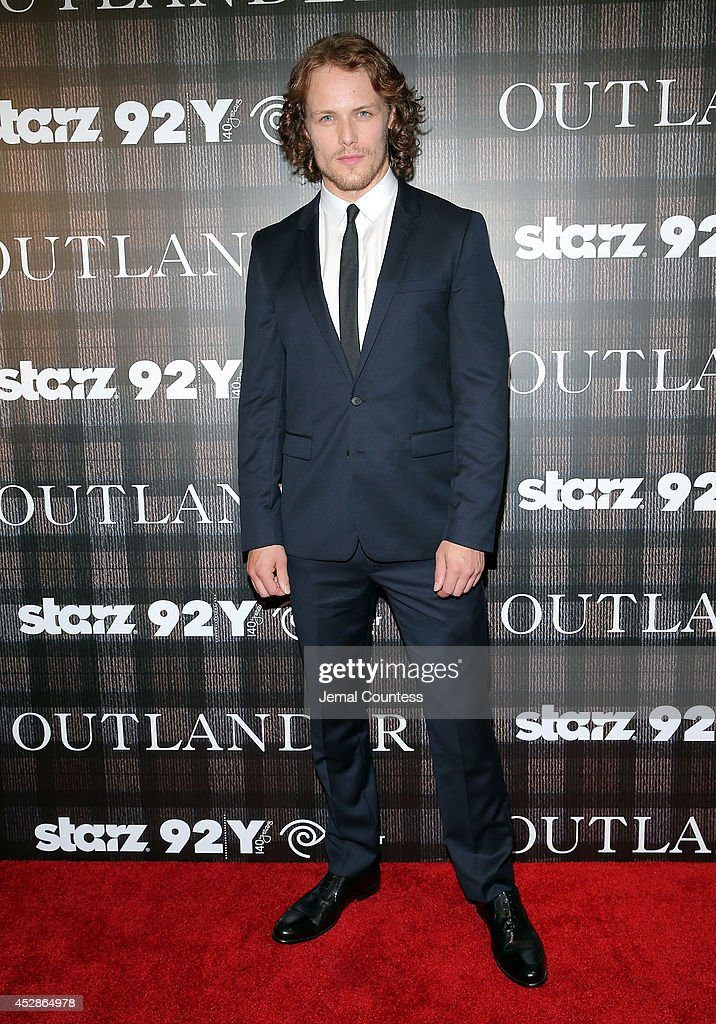Actor <a gi-track='captionPersonalityLinkClicked' href=/galleries/search?phrase=Sam+Heughan&family=editorial&specificpeople=6931997 ng-click='$event.stopPropagation()'>Sam Heughan</a> attends the 'Outlander' series screening at 92nd Street Y on July 28, 2014 in New York City.