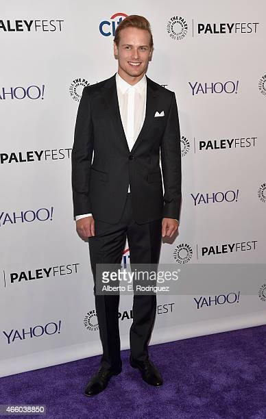 Actor Sam Heughan attends The Paley Center for Media's 32nd Annual PALEYFEST LA 'Outlander' at Dolby Theatre on March 12 2015 in Hollywood California