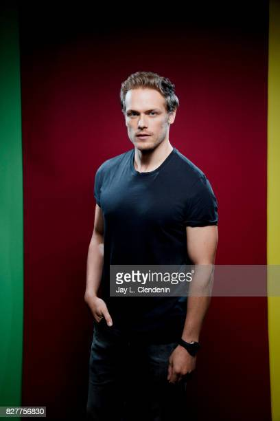 Actor Sam Heughan from the television series 'Outlander' is photographed in the LA Times photo studio at ComicCon 2017 in San Diego CA on July 22...