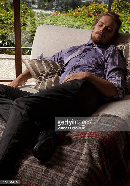 Actor Sam Heughan is photographed for Emmy Magazine on February 4 2015 in Los Angeles California PUBLISHED IMAGE