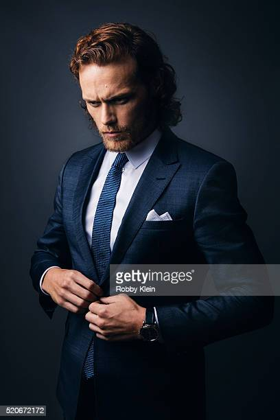 Actor Sam Heughan is photographed for The Wrap on January 8 2016 in Los Angeles California