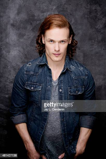 Actor Sam Heughan of ' Outlander' poses for a portrait at ComicCon International 2015 for Los Angeles Times on July 9 2015 in San Diego California...