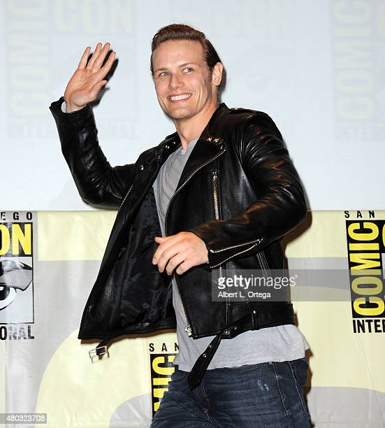 Actor Sam Heughan walks onstage at the Entertainment Weekly Brave New Warriors panel during ComicCon International 2015 at the San Diego Convention...