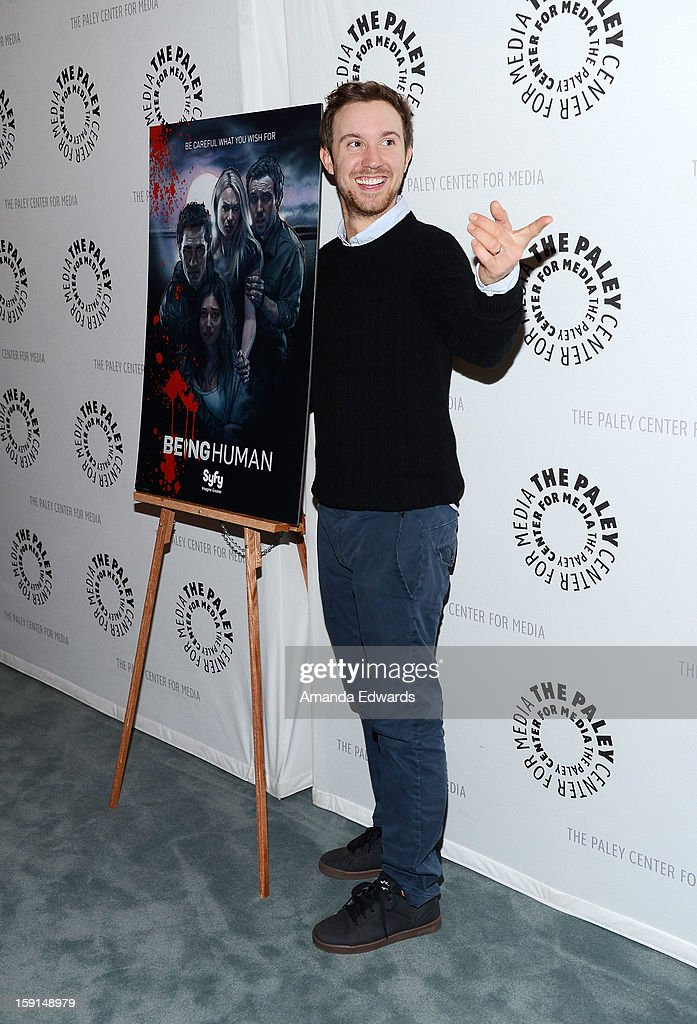 Actor <a gi-track='captionPersonalityLinkClicked' href=/galleries/search?phrase=Sam+Huntington&family=editorial&specificpeople=546776 ng-click='$event.stopPropagation()'>Sam Huntington</a> arrives at The Paley Center for Media presents an evening with Syfy's 'Being Human' season 3 premiere screening and panel at The Paley Center for Media on January 8, 2013 in Beverly Hills, California.