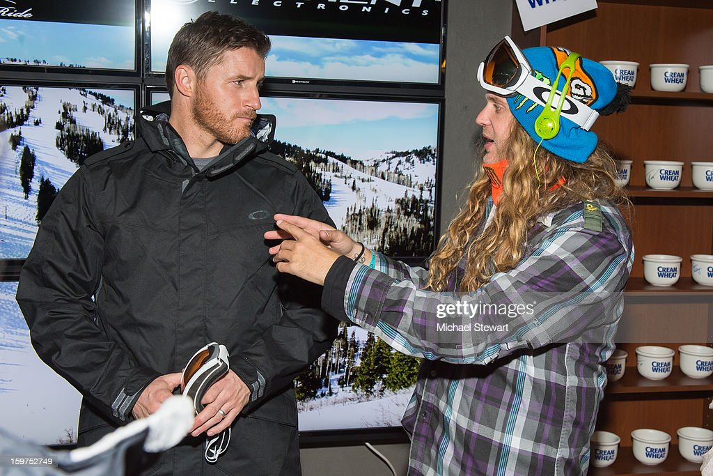 Actor Sam Jaeger (L) and snowboarder The Dingo attend Oakley Learn To Ride In Collaboration With New Era on January 19, 2013 in Park City, Utah.