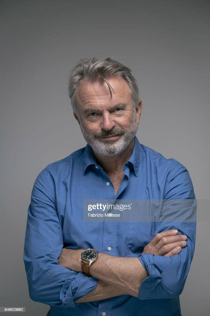 Actor Sam Neill is photographed on September 7, 2017 in Venice, Italy.