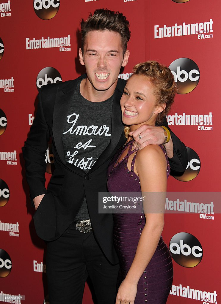 Actor <a gi-track='captionPersonalityLinkClicked' href=/galleries/search?phrase=Sam+Palladio&family=editorial&specificpeople=9149279 ng-click='$event.stopPropagation()'>Sam Palladio</a> and Actress <a gi-track='captionPersonalityLinkClicked' href=/galleries/search?phrase=Hayden+Panettiere&family=editorial&specificpeople=204227 ng-click='$event.stopPropagation()'>Hayden Panettiere</a> attend the Entertainment Weekly & ABC 2013 New York Upfront Party at The General on May 14, 2013 in New York City.
