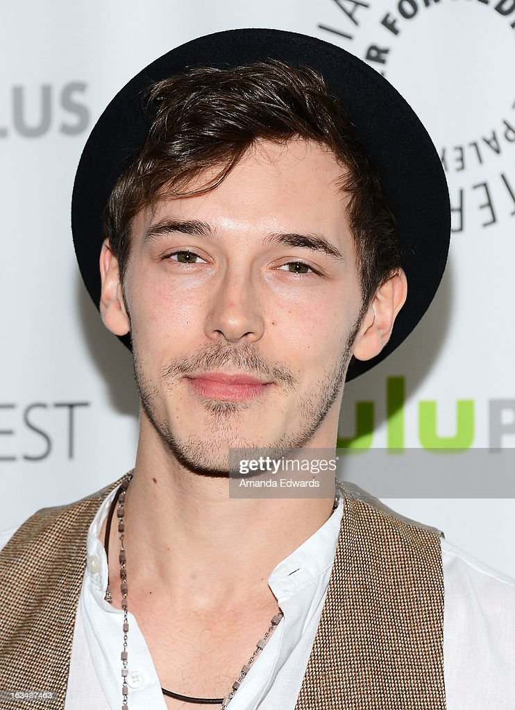 Actor <a gi-track='captionPersonalityLinkClicked' href=/galleries/search?phrase=Sam+Palladio&family=editorial&specificpeople=9149279 ng-click='$event.stopPropagation()'>Sam Palladio</a> arrives at the 30th Annual PaleyFest: The William S. Paley Television Festival featuring 'Nashville' at the Saban Theatre on March 9, 2013 in Beverly Hills, California.