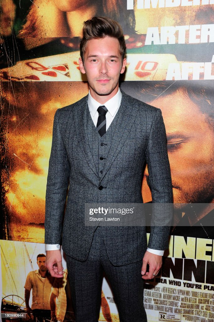 Actor Sam Palladio arrives at the world premiere of Twentieth Century Fox and New Regency's film 'Runner Runner' at Planet Hollywood Resort Casino on...