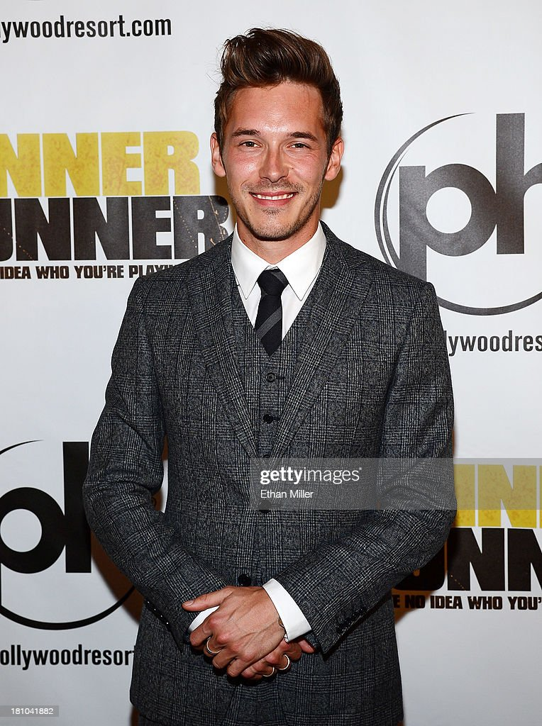 Actor <a gi-track='captionPersonalityLinkClicked' href=/galleries/search?phrase=Sam+Palladio&family=editorial&specificpeople=9149279 ng-click='$event.stopPropagation()'>Sam Palladio</a> arrives at the world premiere of Twentieth Century Fox and New Regency's film 'Runner Runner' at Planet Hollywood Resort & Casino on September 18, 2013 in Las Vegas, Nevada.