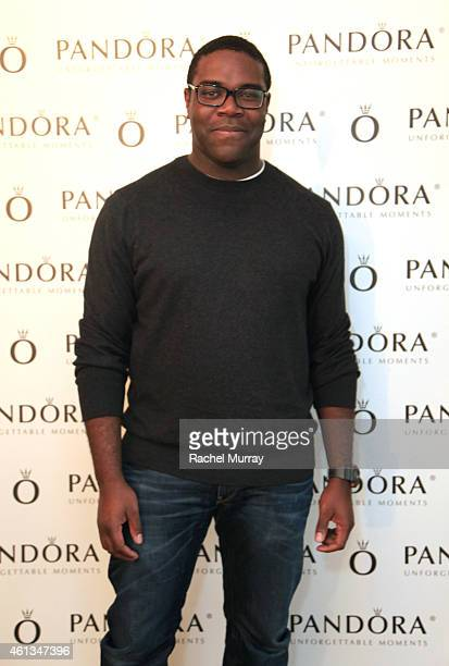 Actor Sam Richardson attends the HBO Luxury Lounge Featuring PANDORA Jewelry at Four Seasons Hotel Los Angeles at Beverly Hills on January 11 2015 in...