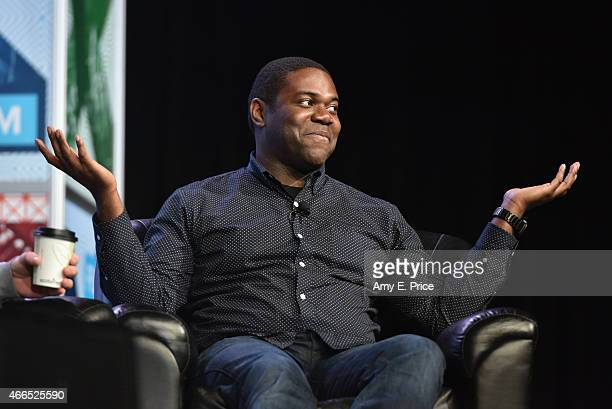 Actor Sam Richardson speaks onstage at 'The 'VEEP' Speaks' during the 2015 SXSW Music Film Interactive Festival at Austin Convention Center on March...