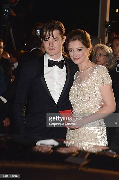 Actor Sam Riley and Alexandra Maria Lara depart the 'On The Road' Premiere during the 65th Annual Cannes Film Festival at Palais des Festivals on May...