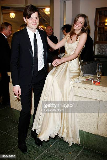 Actor Sam Riley and wife actress Alexandra Maria Lara attend the afterparty of the German film award 'Deutscher Filmpreis' at Friedrichstadtpalast on...