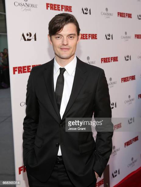 Actor Sam Riley attends the premiere of A24's 'Free Fire' at ArcLight Hollywood on April 13 2017 in Hollywood California