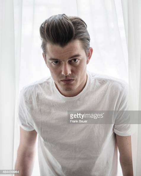 Actor Sam Riley is photographed for Red magazine in Munich Germany on April 1 2014