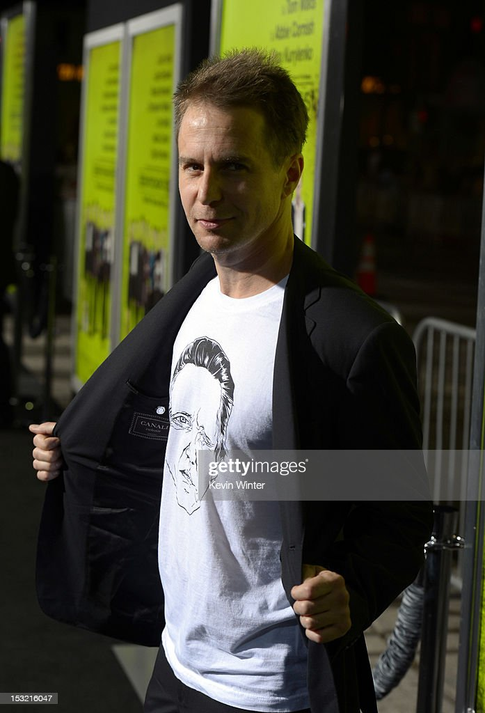 Actor <a gi-track='captionPersonalityLinkClicked' href=/galleries/search?phrase=Sam+Rockwell&family=editorial&specificpeople=213214 ng-click='$event.stopPropagation()'>Sam Rockwell</a> arrives at the premiere of CBS Films' 'Seven Psychopaths' at Mann Bruin Theatre on October 1, 2012 in Westwood, California.