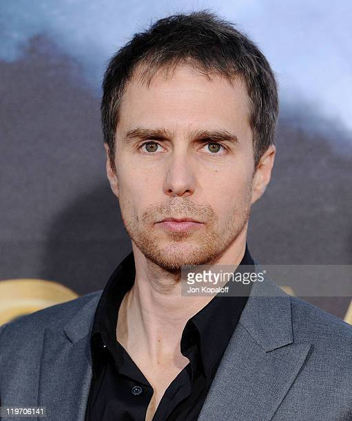 Actor Sam Rockwell arrives at the World Premiere 'Cowboys Aliens' at San Diego Civic Theatre on July 23 2011 in San Diego California