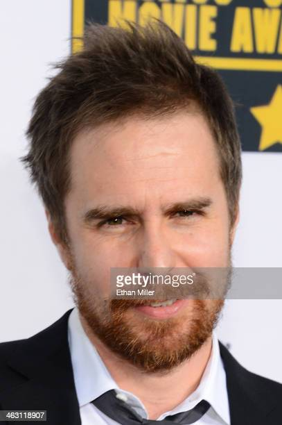 Actor Sam Rockwell attends the 19th Annual Critics' Choice Movie Awards at Barker Hangar on January 16 2014 in Santa Monica California