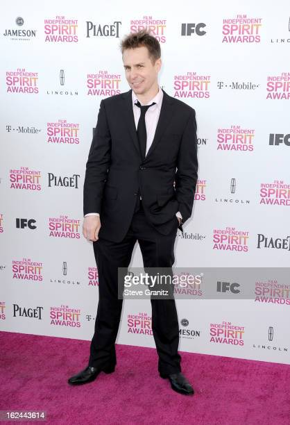 Actor Sam Rockwell attends the 2013 Film Independent Spirit Awards at Santa Monica Beach on February 23 2013 in Santa Monica California
