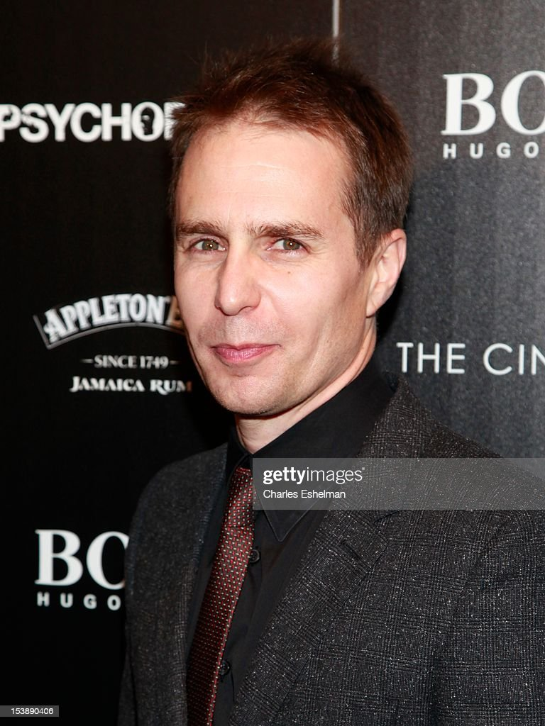 Actor Sam Rockwell attends The Cinema Society with Hugo Boss and Appleton Estate screening of 'Seven Psychopaths' at Clearview Chelsea Cinemas on October 10, 2012 in New York City.