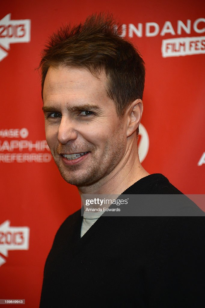 Actor <a gi-track='captionPersonalityLinkClicked' href=/galleries/search?phrase=Sam+Rockwell&family=editorial&specificpeople=213214 ng-click='$event.stopPropagation()'>Sam Rockwell</a> attends the 'The Way, Way Back' premiere at Eccles Center Theatre during the 2013 Sundance Film Festival on January 21, 2013 in Park City, Utah.