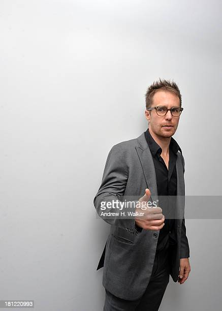 Actor Sam Rockwell attends the Tribeca Film and The Cinema Society screening of 'A Single Shot' after party at Bar Nana on September 19 2013 in New...