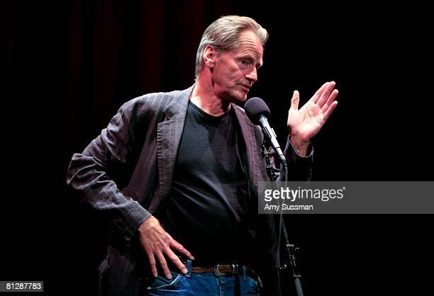 Actor Sam Shepard recites a short story at 'Toil and Trouble Stories of Experiments Gone Wrong' at the World Science Festival held at The Moth at...