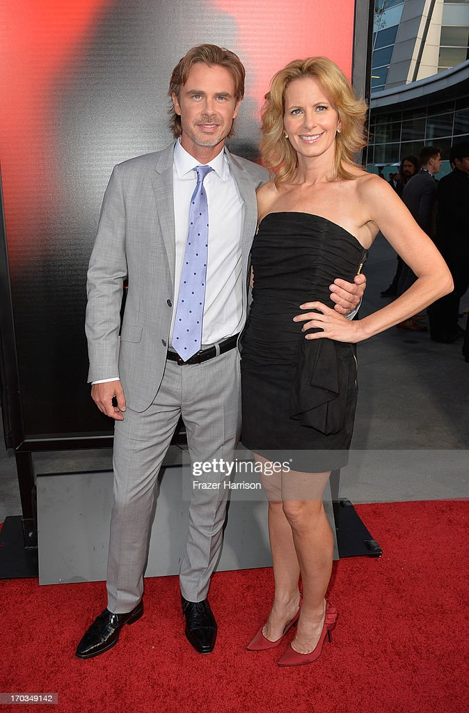 Actor Sam Trammell and Missy Yager attend the premiere of HBO's 'True Blood' Season 6 at ArcLight Cinemas Cinerama Dome on June 11, 2013 in Hollywood, California.