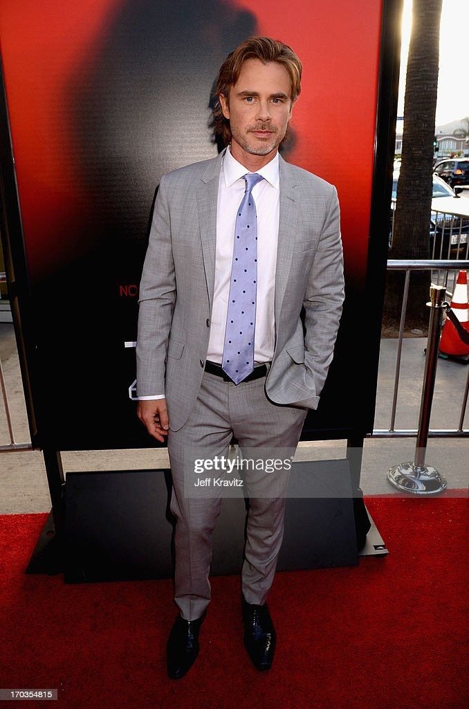 Actor <a gi-track='captionPersonalityLinkClicked' href=/galleries/search?phrase=Sam+Trammell&family=editorial&specificpeople=3205930 ng-click='$event.stopPropagation()'>Sam Trammell</a> attends HBO's 'True Blood' season 6 premiere at ArcLight Cinemas Cinerama Dome on June 11, 2013 in Hollywood, California.