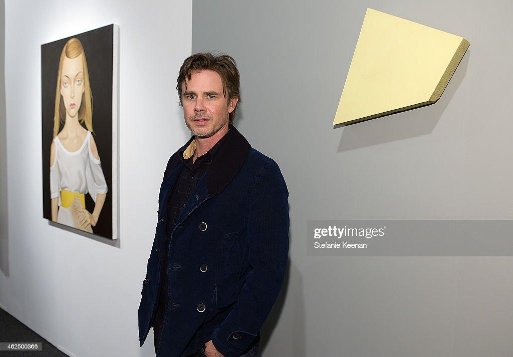 Actor Sam Trammell attends the Art Los Angeles Contemporary 2015 Opening Night at Barker Hangar on January 29, 2015 in Santa Monica, California.