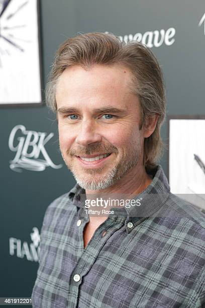 Actor Sam Trammell attends the GBK Pilot Pen PreGolden Globe Gift Lounge on January 11 2014 in Beverly Hills California