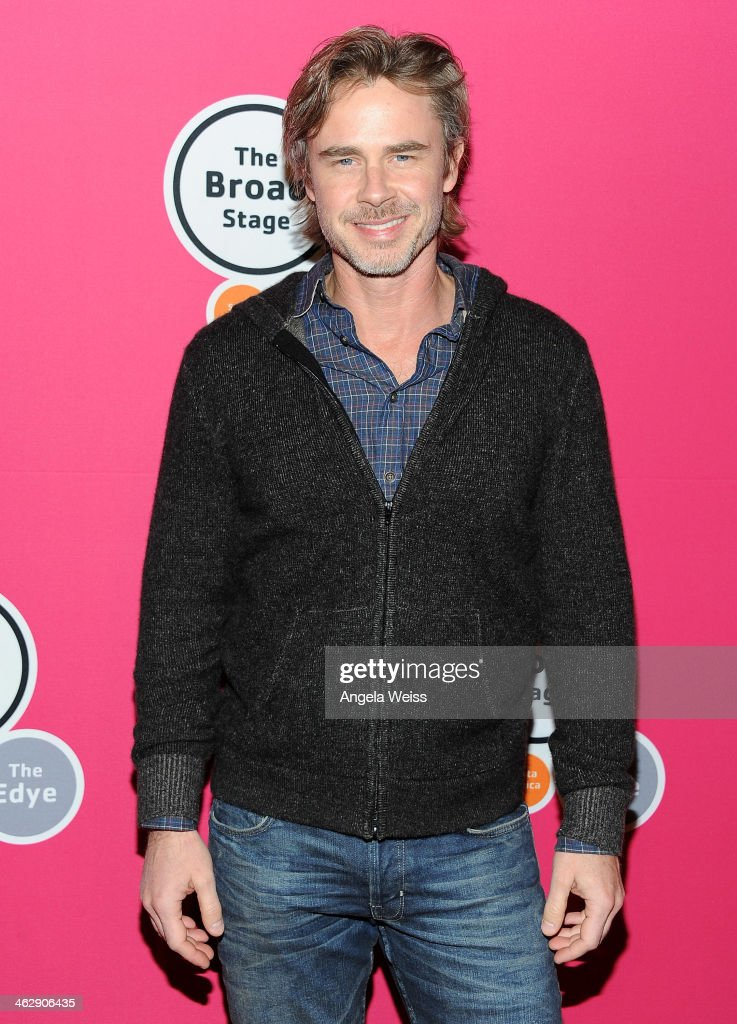 Actor <a gi-track='captionPersonalityLinkClicked' href=/galleries/search?phrase=Sam+Trammell&family=editorial&specificpeople=3205930 ng-click='$event.stopPropagation()'>Sam Trammell</a> attends the Los Angeles opening night of Denis O'Hare's One-Man Show 'An Iliad' at The Eli and Edythe Broad Stage on January 15, 2014 in Santa Monica, California.