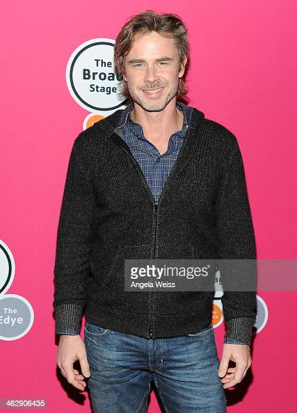 Actor Sam Trammell attends the Los Angeles opening night of Denis O'Hare's OneMan Show 'An Iliad' at The Eli and Edythe Broad Stage on January 15...