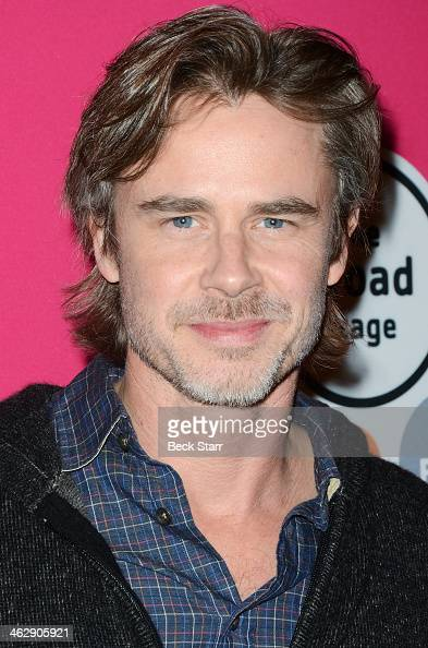 Actor Sam Trammell attends the opening night of 'An Iliad' at The Eli and Edythe Broad Stage on January 15 2014 in Santa Monica California