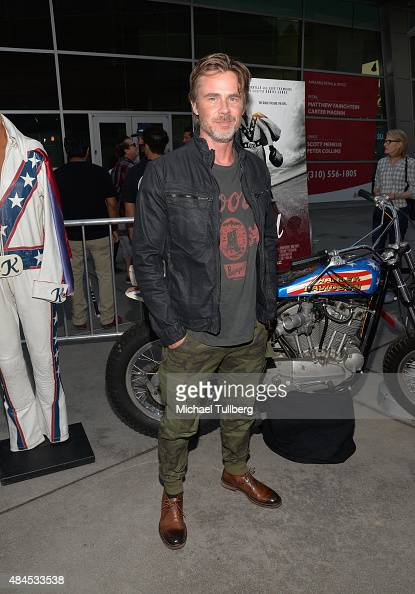 Actor Sam Trammell attends the premiere of Dickhouse Productions' 'Being Evel' at ArcLight Cinemas on August 19 2015 in Hollywood California