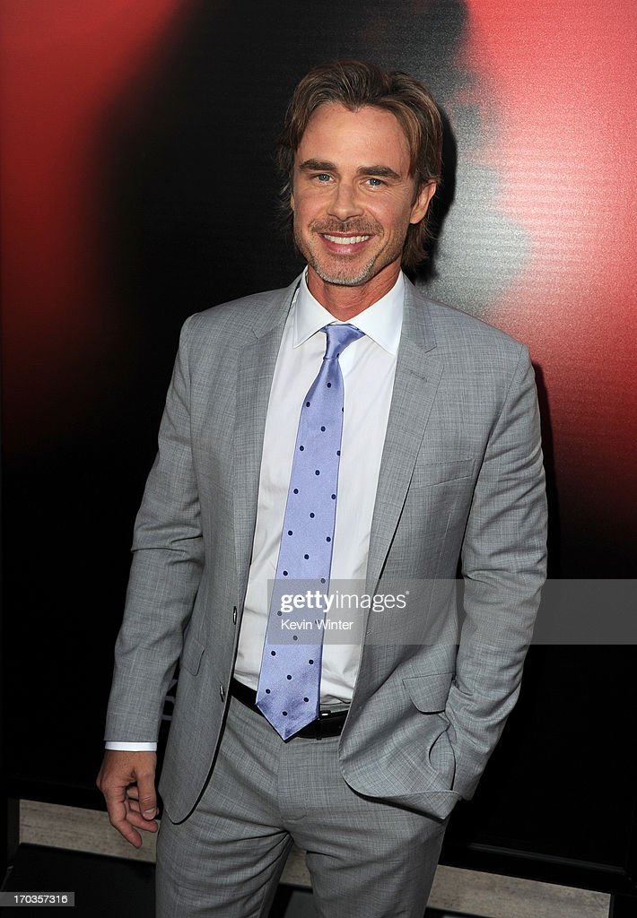 Actor <a gi-track='captionPersonalityLinkClicked' href=/galleries/search?phrase=Sam+Trammell&family=editorial&specificpeople=3205930 ng-click='$event.stopPropagation()'>Sam Trammell</a> attends the premiere of HBO's 'True Blood' at ArcLight Cinemas Cinerama Dome on June 11, 2013 in Hollywood, California.