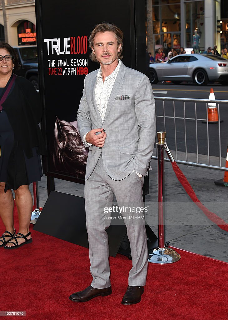 Actor <a gi-track='captionPersonalityLinkClicked' href=/galleries/search?phrase=Sam+Trammell&family=editorial&specificpeople=3205930 ng-click='$event.stopPropagation()'>Sam Trammell</a> attends the premiere of HBO's 'True Blood' season 7 and final season at TCL Chinese Theatre on June 17, 2014 in Hollywood, California.