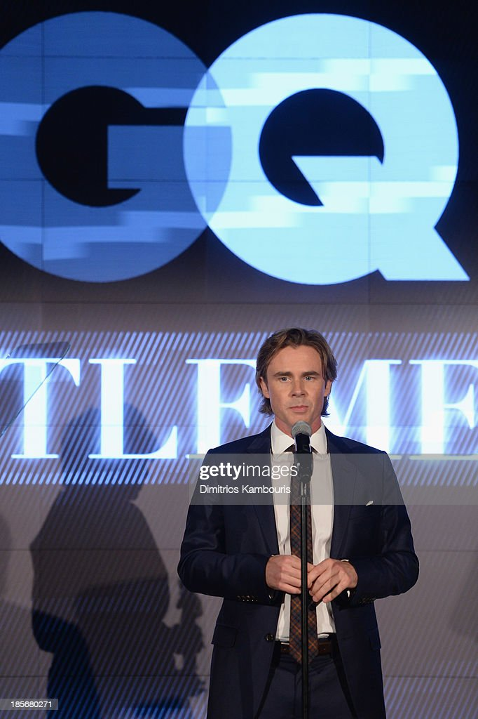 Actor <a gi-track='captionPersonalityLinkClicked' href=/galleries/search?phrase=Sam+Trammell&family=editorial&specificpeople=3205930 ng-click='$event.stopPropagation()'>Sam Trammell</a> speaks onstage at the 2013 GQ Gentlemen's Ball presented by BMW i, Movado, and Nautica at IAC Building on October 23, 2013 in New York City.