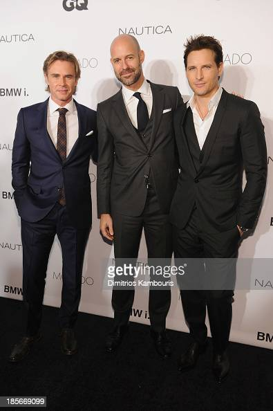 Actor Sam Trammell Vice President Publisher at GQ Chris Mitchell and actor Peter Facinelli walk the red carpet at the 2013 GQ Gentlemen's Ball...