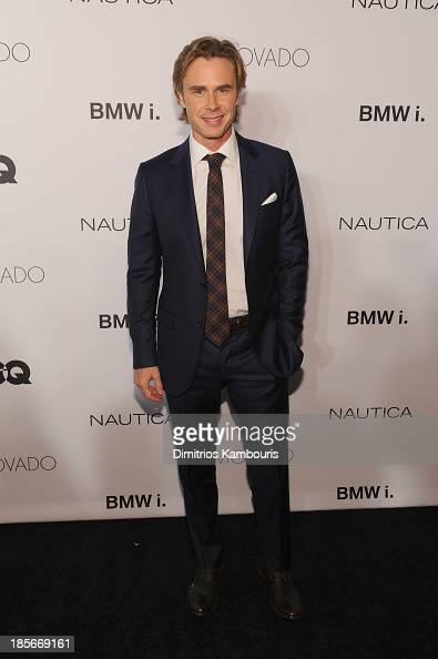 Actor Sam Trammell walk the red carpet at the 2013 GQ Gentlemen's Ball presented by BMW i Movado and Nautica at IAC Building on October 23 2013 in...
