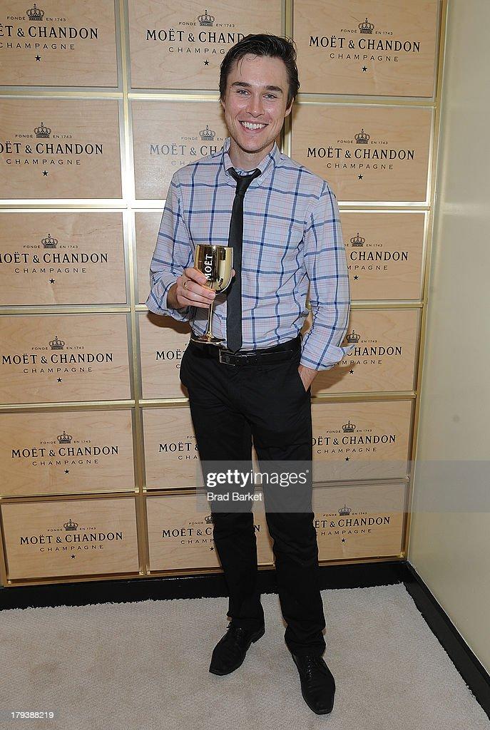 Actor Sam Underwood attends the Moet & Chandon Suite at USTA Billie Jean King National Tennis Center on September 2, 2013 in New York City.