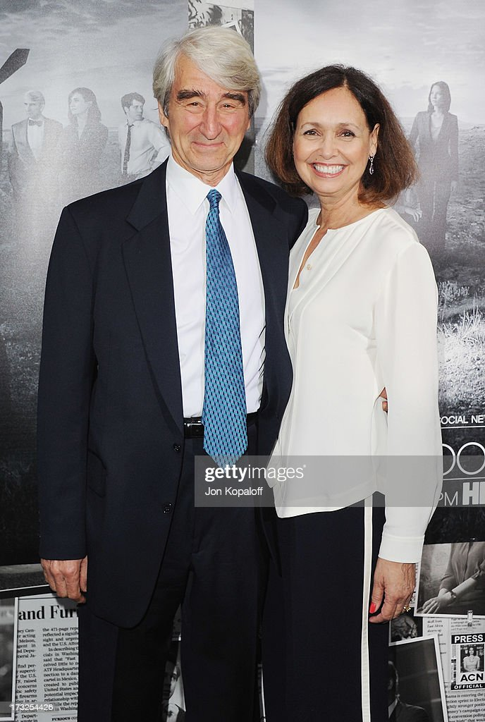 Actor <a gi-track='captionPersonalityLinkClicked' href=/galleries/search?phrase=Sam+Waterston&family=editorial&specificpeople=212718 ng-click='$event.stopPropagation()'>Sam Waterston</a> and wife Lynn Louisa Woodruff arrive at HBO's Season 2 Premiere Of 'The Newsroom' at Paramount Theater on the Paramount Studios lot on July 10, 2013 in Hollywood, California.