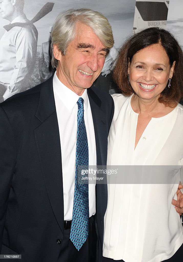 Actor Sam Waterston (L) and wife Lynn Louisa Woodruff arrive at the Los Angeles Season 2 Premiere Of HBO's Series 'The Newsroom' at Paramount Studios on July 10, 2013 in Hollywood, California.
