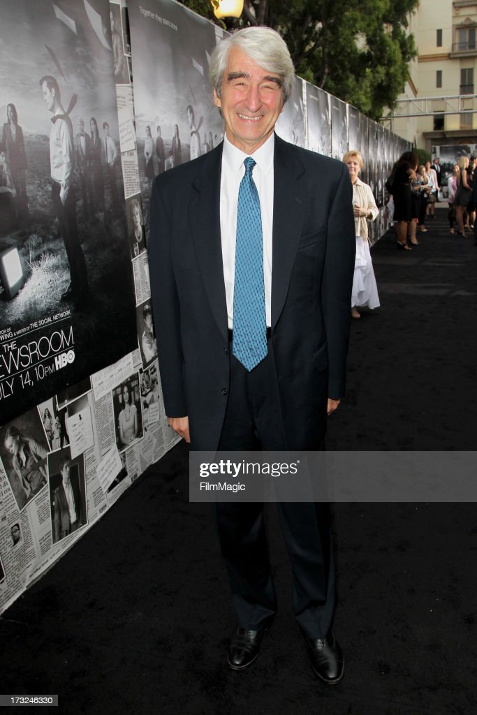Actor Sam Waterston attends HBO's 'The Newsroom' season 2 premiere at Paramount Studios on July 10, 2013 in Hollywood, California.