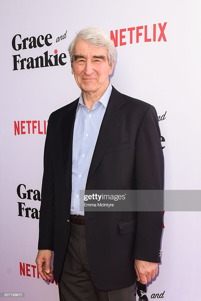 Actor <a gi-track='captionPersonalityLinkClicked' href=/galleries/search?phrase=Sam+Waterston&family=editorial&specificpeople=212718 ng-click='$event.stopPropagation()'>Sam Waterston</a> attends Netflix Original Series 'Grace & Frankie' season 2 premiere at Harmony Gold on May 1, 2016 in Los Angeles, California.