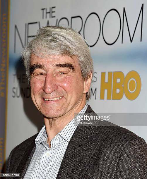 Actor Sam Waterston attends the premiere of HBO's 'The Newsroom' Season 3 at the DGA Theater on November 4 2014 in Los Angeles California