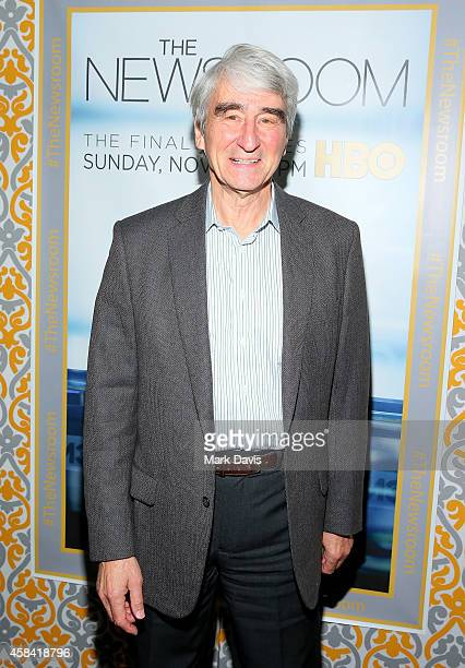 Actor Sam Waterston attends the Premiere of HBO's 'The Newsroom' Season 3 at Directors Guild Of America on November 4 2014 in Los Angeles California