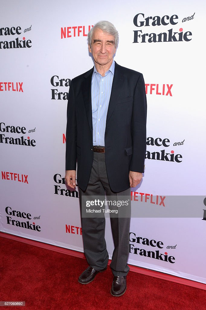 Actor <a gi-track='captionPersonalityLinkClicked' href=/galleries/search?phrase=Sam+Waterston&family=editorial&specificpeople=212718 ng-click='$event.stopPropagation()'>Sam Waterston</a> attends the premiere of Season 2 of the Netflix Original Series 'Grace & Frankie' at Harmony Gold on May 1, 2016 in Los Angeles, California.
