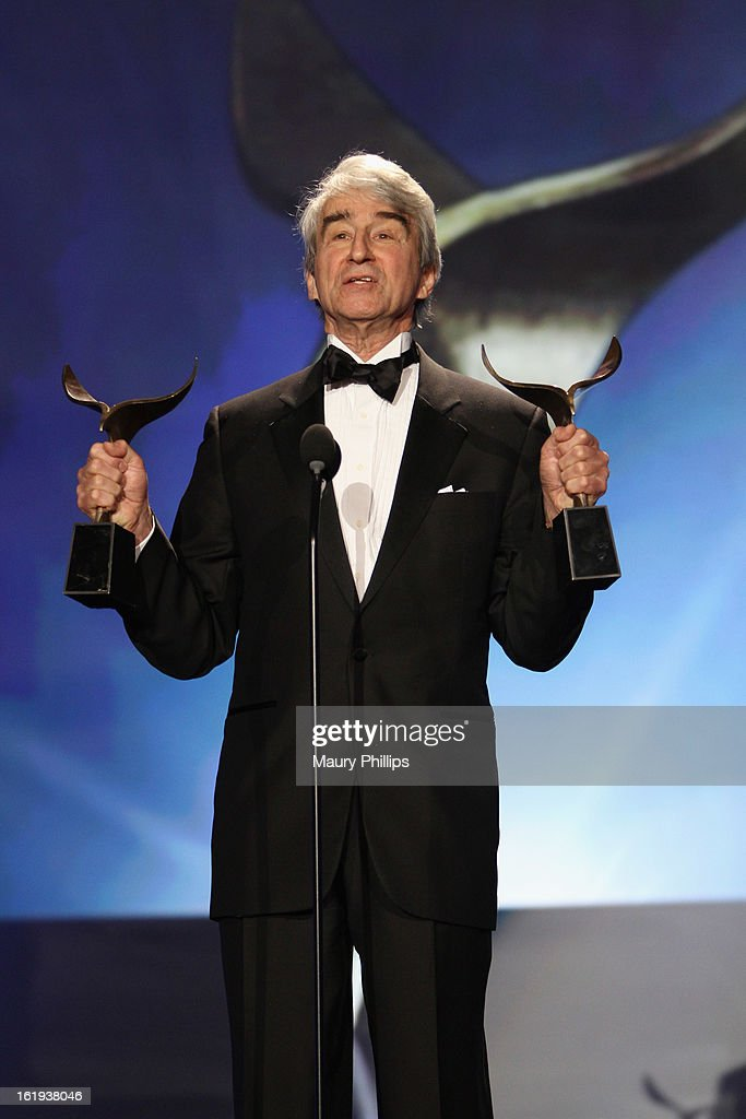 Actor Sam Waterston speaks onstage during the 2013 WGAw Writers Guild Awards at JW Marriott Los Angeles at L.A. LIVE on February 17, 2013 in Los Angeles, California.